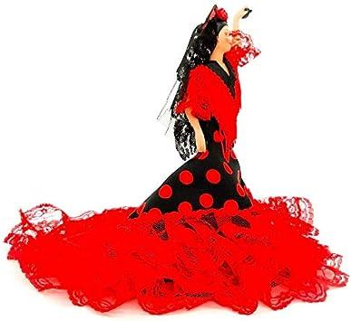 Folk Artesanía Muñeca Porcelana andaluza o Flamenca 28 cm Original Fabricado en España: Amazon.es: Juguetes y juegos