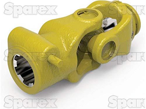 PTO Coupling (U/J Size: 27 x 70mm) Size: 1 3/8''-6 Spline, Profile: Triangle, Size: 43.5 x 3mm, Ref: 12508.