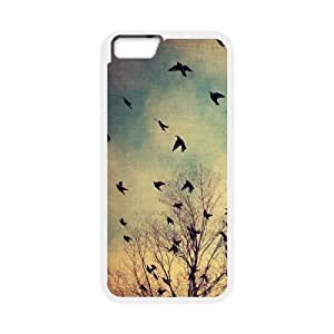 LIULAOSHI Fashion Flying Birds Phone Case for iphone6 (4.7 inch) White [Pattern-1] by Maris's Diary