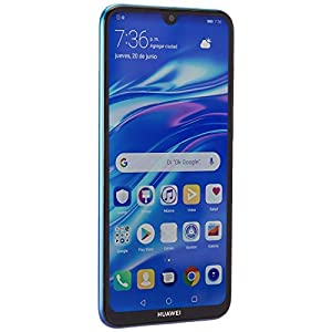 "Huawei Y7 2019 (32GB, 3GB) 6.26"" Dewdrop Display, 4000 mAh Battery, 4G LTE GSM Dual SIM Factory Unlocked Smartphone (Dub-LX3) – International Version (Blue) (Renewed)"