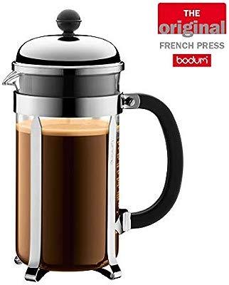 Bodum Chambord 8 Cup French Press Coffee Maker Chrome 10 L 34 Oz