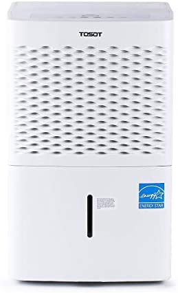 TOSOT 1,500 Sq Ft Energy Star Dehumidifier for Home, Basement, Bedroom or Bathroom-Super Quiet, 20 Pint-2019 DOE (Previous 30 Pint), White