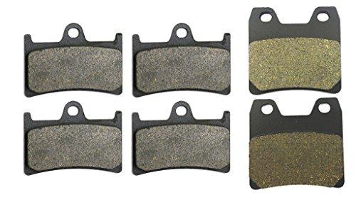 CNBK Semi-Metallic Brake Shoe Pads Set fit YAMAHA Street Bike FZS1000 FZS 1000 cc 1000cc Fazer 01 02 03 04 05 2001 2002 2003 2004 2005 6 Pads (Best 1000cc Street Bike)