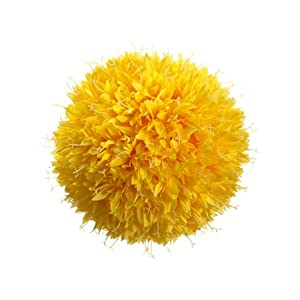 "10"" Allium Kissing Ball  Yellow 85"