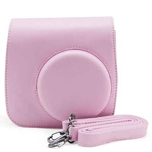 lowpricenice-cute-beige-pu-leather-camera-case-bag-for-fujifilm-instax-mini8-mini8s-pink