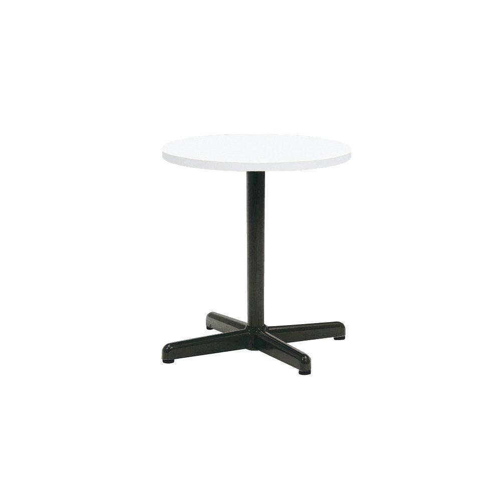 プラス 会議テーブル LM 十字脚タイプ 丸形 LM-090CC ホワイト 603753 B013JP6Z1K ホワイト|603753 ホワイト