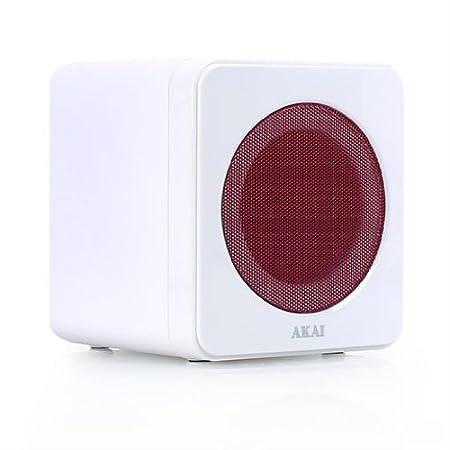Akai AMDD02 Equipo de sonido estéreo microcadena Hifi (DVD, USB, radio) Blanco y rosa: Amazon.es: Electrónica