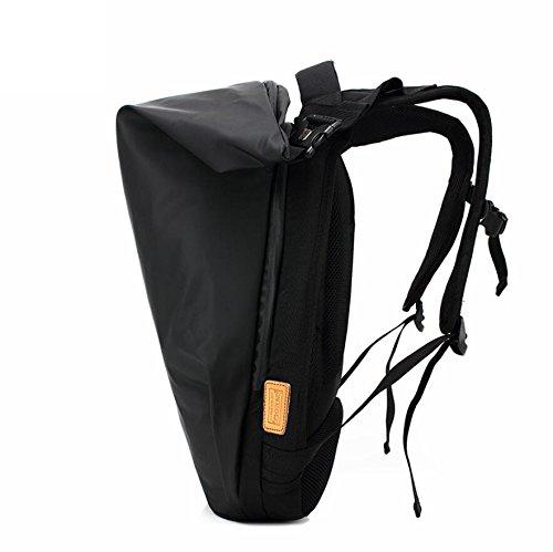Z&N Backpack Nuevo paño impermeable creativo de Oxford morral morral ocasional de la computadora estudiantes morral del recorrido del ocio multiusos alpinismo ultra-ligero y morral del recorridoArmy G black