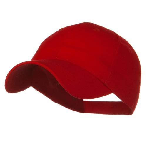 Youth Brushed Cotton Twill Low Profile Cap - Red OSFM