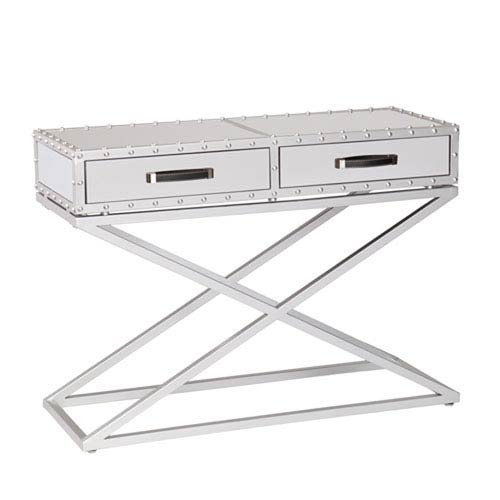 ver Industrial Mirrored Console Table ()