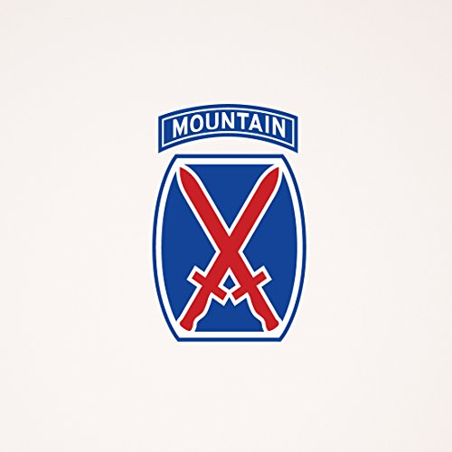 US Army - 10th Mountain Division - Full Color Wall Decal - 24 Inches Tall x 16 Inches - Directions To Pentagon