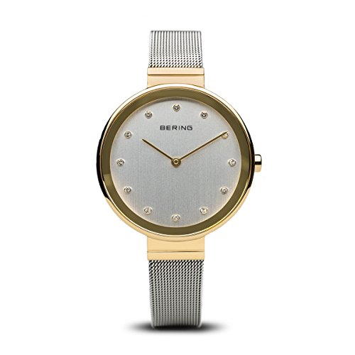 BERING Time 12034-010 Womens Classic Collection Watch with Mesh Band and Scratch Resistant Sapphire Crystal. Designed in ()