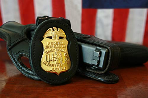 History Prints FBI Badge & Gun; Federal Bureau of Investigation; Custom Photo Poster