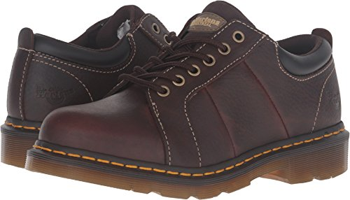 Dr. Martens Women's Mila NS 6 Eye Work Oxfords, Brown, Leather, 8 M UK, 10 M US