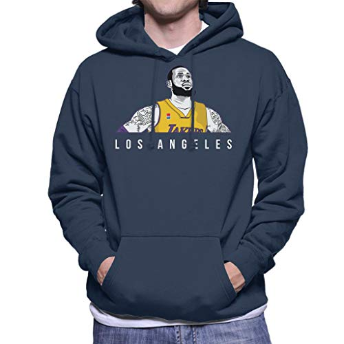 Men's The Cloud Lebron Navy Angeles Sweatshirt Los James Of 7 Blue Lakers Hooded City pXzr7xnX