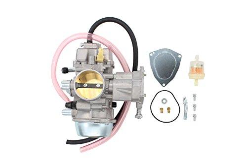 Carburetor For Yamaha Grizzly 600 YFM600 YFM600FH 1998-2001, Grizzly 660 YFM660 YFM660FA YFM660FH 2002-2008, Rhino 660 YXR660 YXR660FA 2004-2007 ATV UTV Carb with Fuel Filter Hose (600 Carburetor Yamaha Xt)