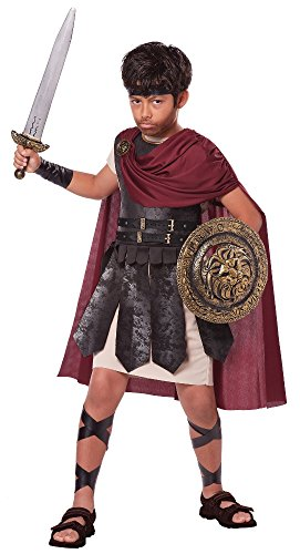 Kids Greek Costumes (California Costumes Spartan Warrior Costume, One Color, 8-10)