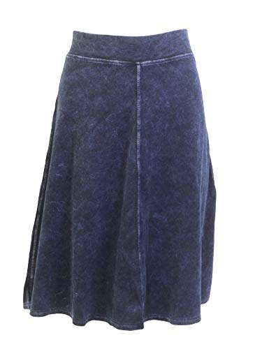 Hard Tail Forever Flat Waist Knee Skirt Cotton - Style B-145 Dark Denim L