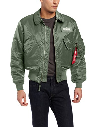 Alpha Industries Men's Alpha CWU 45/P Flight Jacket, SAGE, M