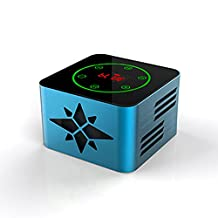 KR-8100 protable bluetooth wireless speaker, support Light-sensitive Touch Button,3D Surround,NFC Quick Match,LED Display,USB,TF,LINE IN,FM function,blue