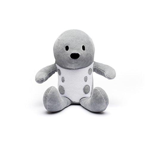 Bears for Humanity Organic Seal Pals Plush Animal Toy, Gray, 12'