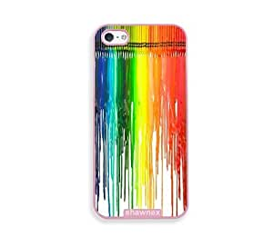 Dripping Colors Crayon Art Pink Plastic Case For Iphone 4/4S Cover - Fits Case For Iphone 4/4S Cover