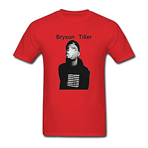 WANTAI Men's Bryson Tiller Custom Cool Tee Shirts - Ibm Pen