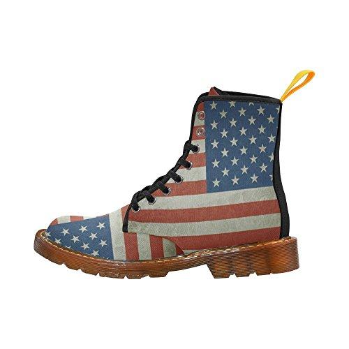 Leinterest Amerikanska Flaggan Martin Stövlar Mode Skor För Män