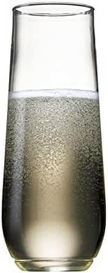 TOSSWARE 9oz Shatterproof Champagne and Cocktail Glass - SET OF 12 - BPA-Free Upscale Recyclable/Disposable Plastic Flutes