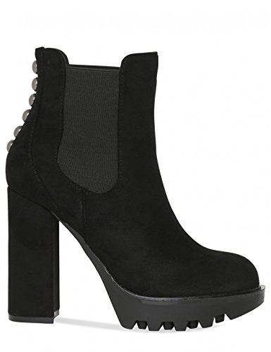 5 Black Ankle Womens Platform Detail Boots Suede Faux Stud in Lamoda Iw0v0