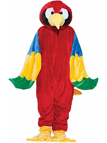 Forum Deluxe Plush Parrot Mascot Costume, Red, One Size]()