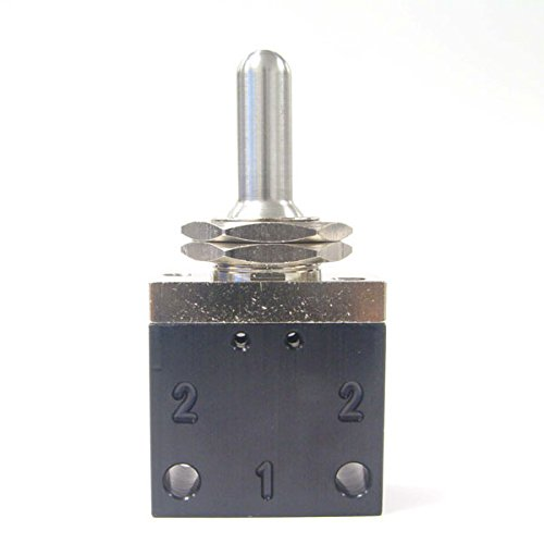 Pneumadyne C042503, 3-Position Toggle Valve, 3-Way, 1/8 NPT (F) Ports, Momentary Actuation