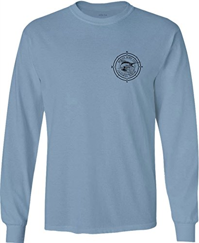 Koloa Surf(tm) Long Sleeve Marlin Logo Heavy Cotton T-Shirt-StoneBlue dee59fe9af1