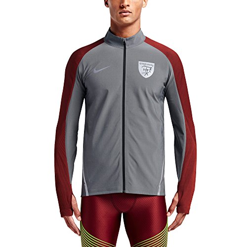 Nike Lab Gyakusou Dry Stade Veste Pour Hommes Noir Chiné / Argent / Dark Cayenne