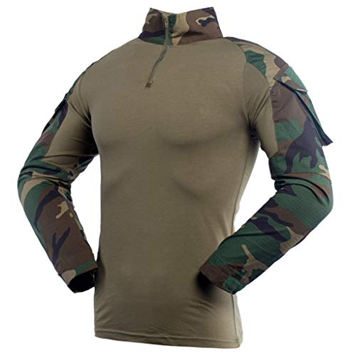 LANBAOSI Men's Tactical Military Combat Shirt Multicam Rapid Assault Army Airsoft Long Sleeve T-Shirt