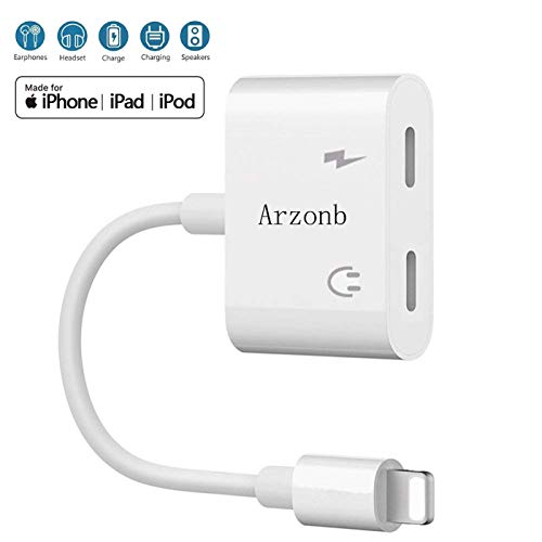 Arzonb Headphone Adapter car Charger 2 in 1 Headphone Jack