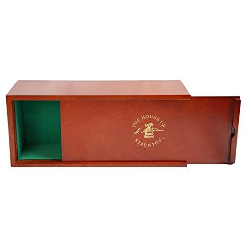 Mahogany Slide-Top Chess Box - by The House of Staunton ()