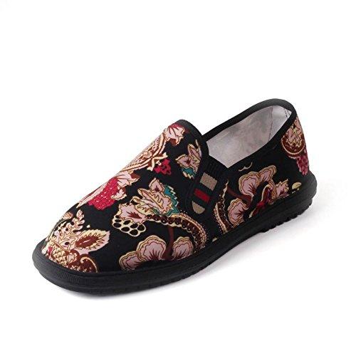 LvYuan Los zapatos tradicionales chinos unisex del paño / retro ocasional respiran los zapatos del bordado / los zapatos de Kung Fu / los artes marciales / deslizan-en los zapatos 6#