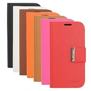 Bracket Synthetic Leather Case For Samsung Galaxy S4 I9500 & Color = Light Brown