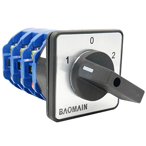 Baomain Rotary Cam Changeover Switch LW28-125/3 660V 125A ON/Off/ON 3 Position ()