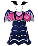 WuFun Girls Vampirina Costume Outfit Halloween Dress Up