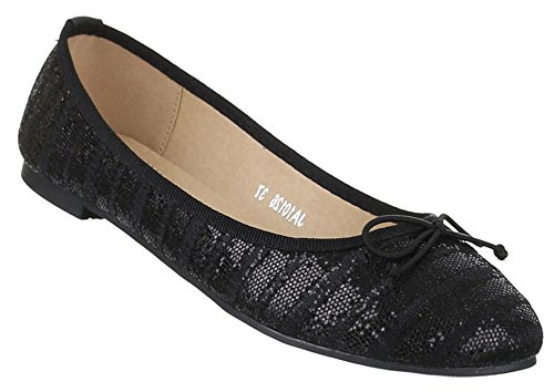 Elegante Slipper mit Blockabsatz und Schleife in Schwarz und Größe 37 Perforierte Loafers bCxh97D