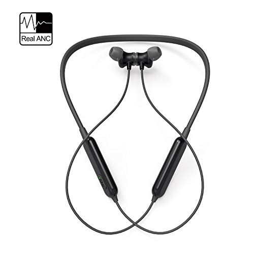 Active Noise Cancelling Headphones, AKAMATE Wireless Neckband Headset Bluetooth V4.2 in-Ear Waterproof Earbuds Magnetic Hi-Fi Stereo Sports Earphones Mic, Carrying ()