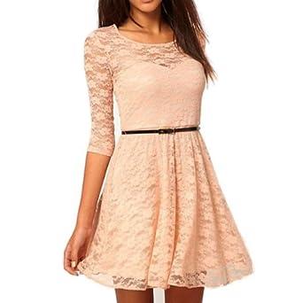 Kleid kurz beige