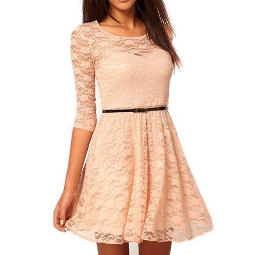 Kleid kurz mit spitze