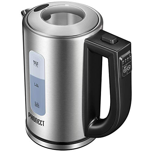 Electric Kettle Temperature Control Stainless Steel Tea Kettle 1.7L Hot Water Kettle Electric