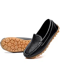 Casual Loafers Shoes Boys Girls Plush Moccasin Slip on...
