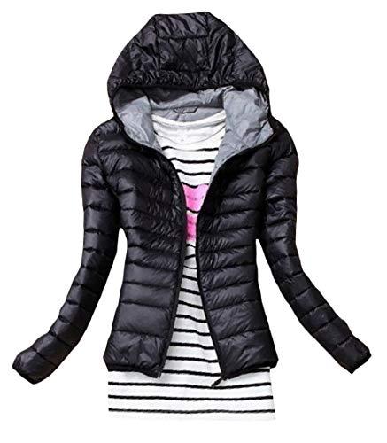 Hoodie Outwear Nero Solide Peso Tasca Leggero Di Delle Lungo Donne Energia Manicotto Lungo Il Breve OTHzqax