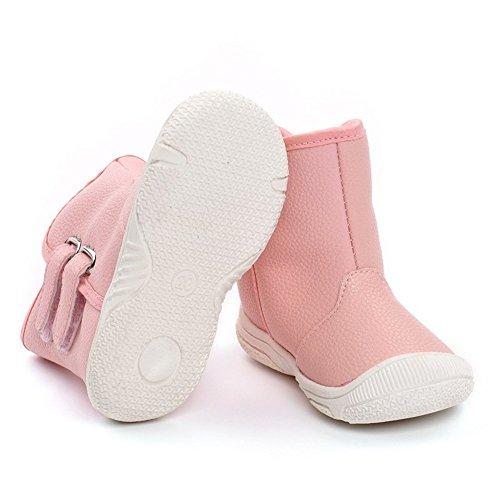 Infant Baby Boy Girl Snow Boots Rubber Sole Anti-Slip Warm Winter Prewalker Waterproof Toddler Shoes (18-24 M)