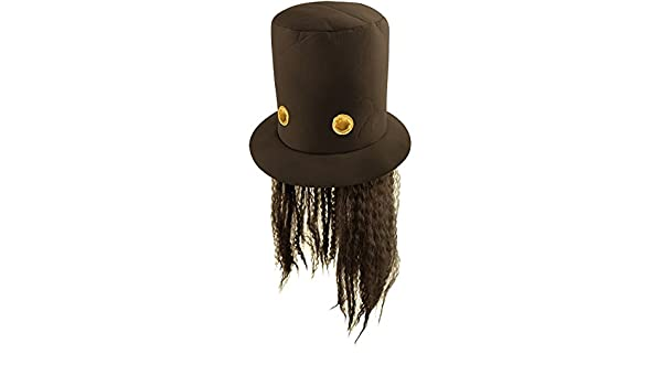 Amazon.com: 80s Slash Guitar Hero Fancy Dress Hat and Wig: Computers & Accessories